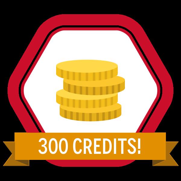 SkillS4i 300 Credits Badge