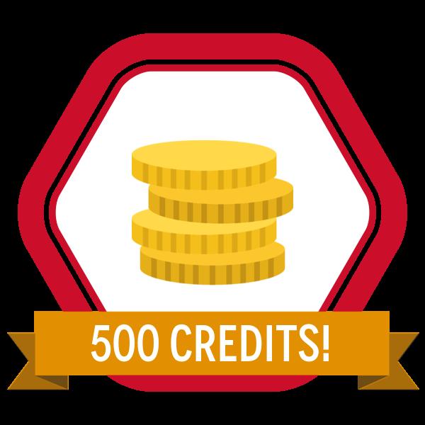 SkillS4i 500 Credits Badge