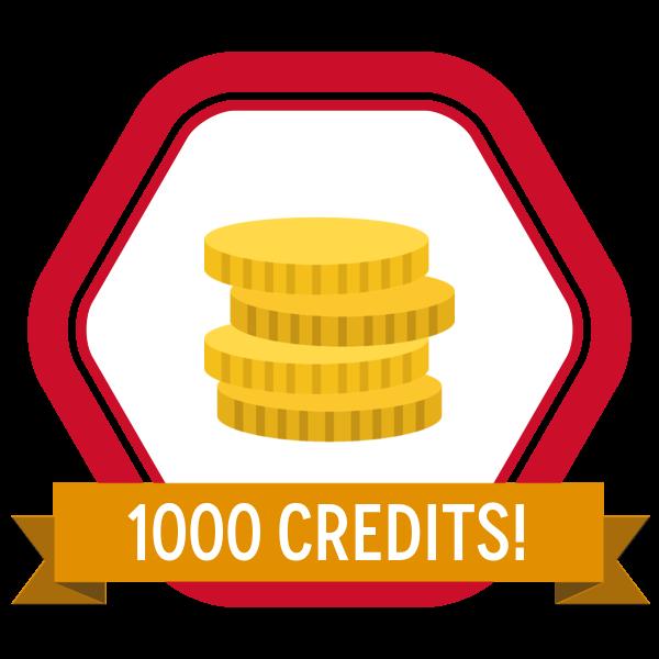 SkillS4i 1000 Credits Badge
